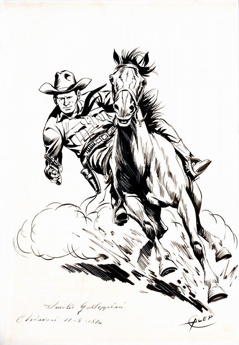 Aurelio Galleppini  Tex al galoppo