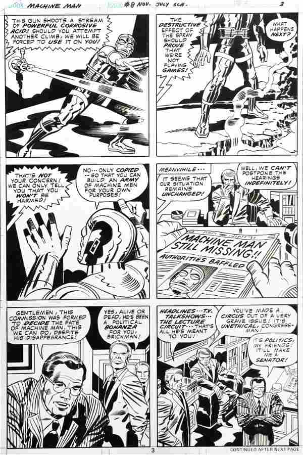 Jack Kirby Machine Man - Super-escape