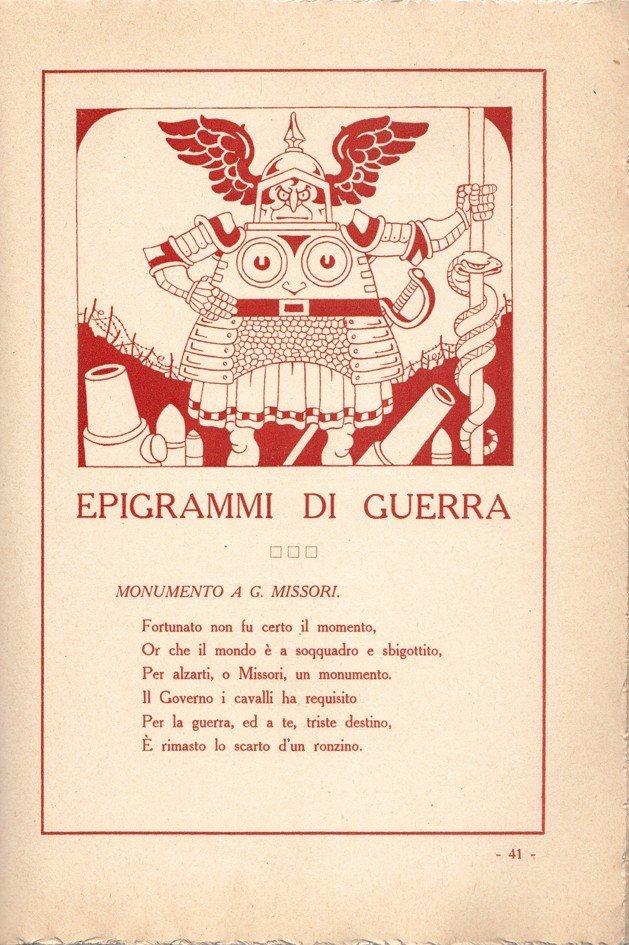 Antonio Rubino Epigrammi