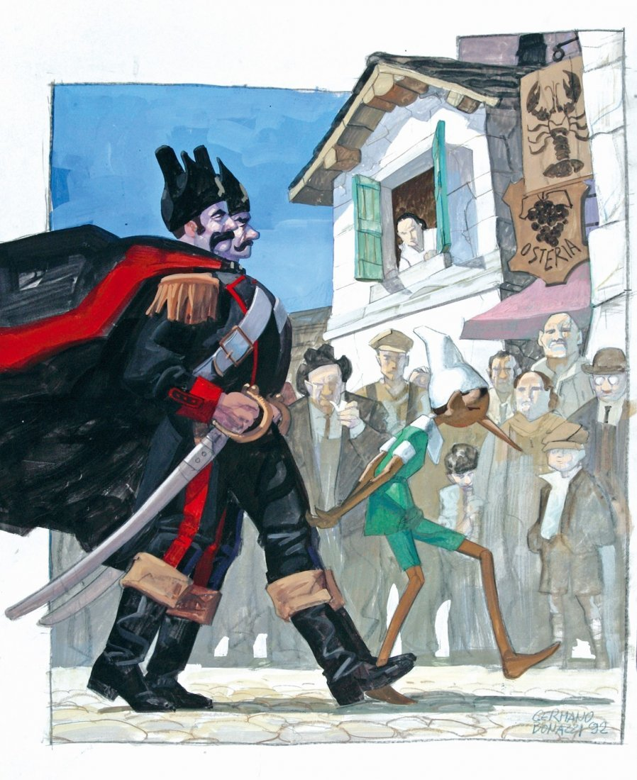 Germano Bonazzi Pinocchio e i Gendarmi