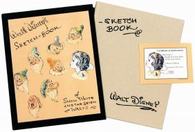 Walt Disney's Sketch Book Of Snow White And The Seven