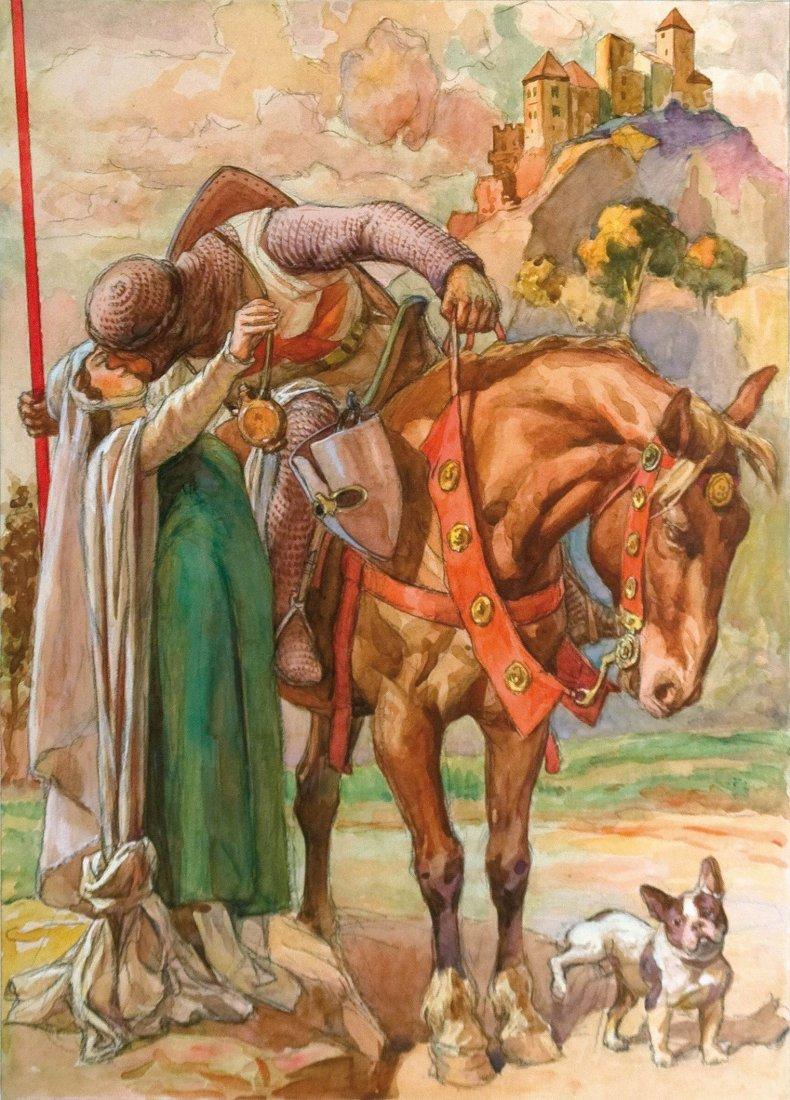 Aoldfo Magrini La partenza del Crociato
