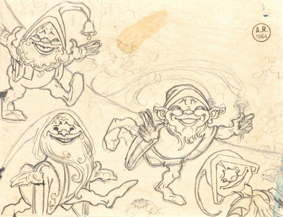 Antonio Rubino Convegno di Gnomi per Versi e disegni