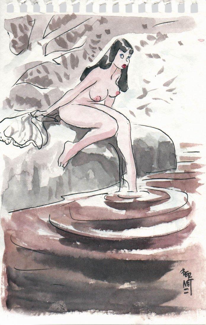 Jordi Bernet Chiara di notte Nuda alla fonte