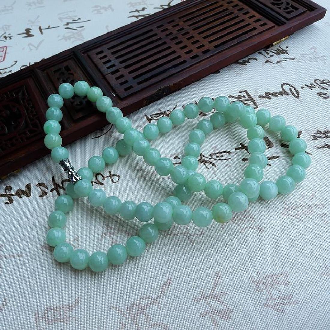 A Nice Nature Jadeite Necklace with Certificate - 4