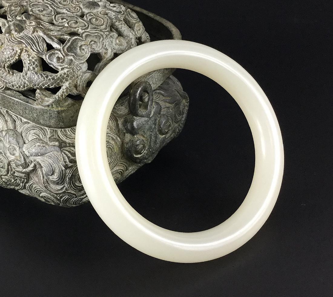 A Nice Hetian White Jade Bangle