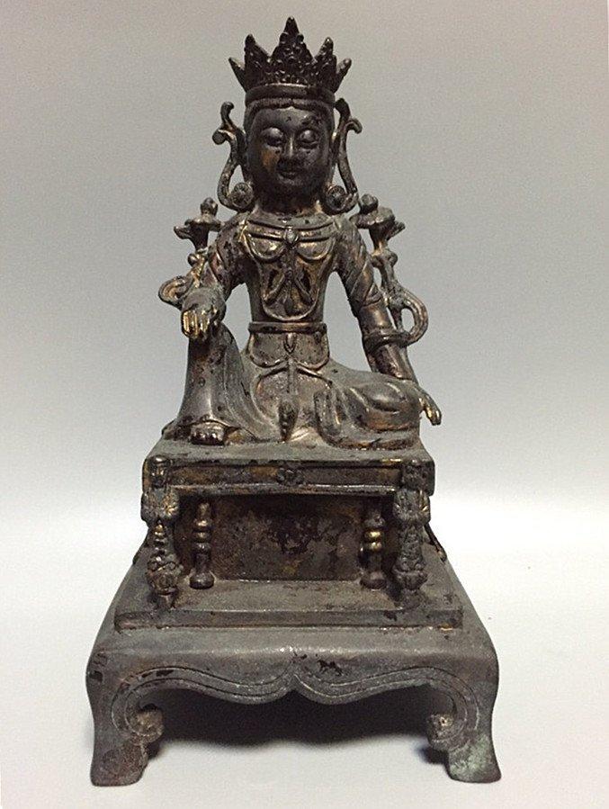 A Nice Gilt Bronze Buddha Statue