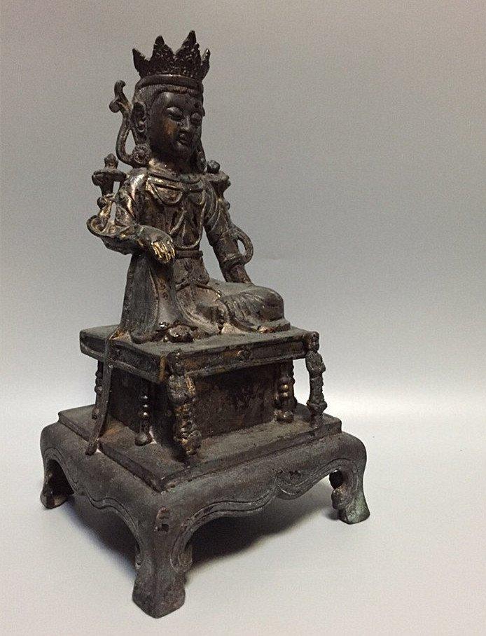 A Nice Gilt Bronze Buddha Statue - 3