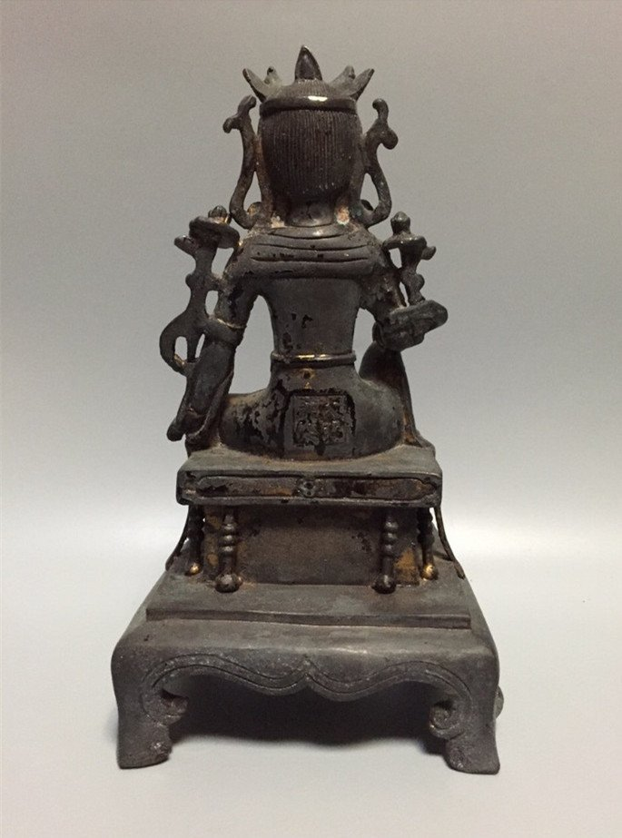 A Nice Gilt Bronze Buddha Statue - 4