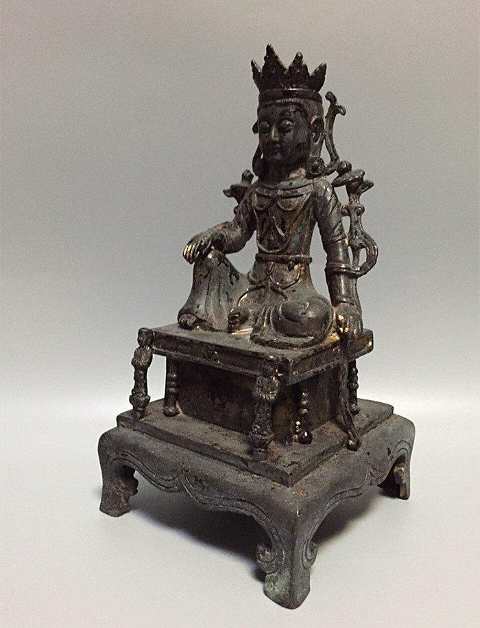 A Nice Gilt Bronze Buddha Statue - 5