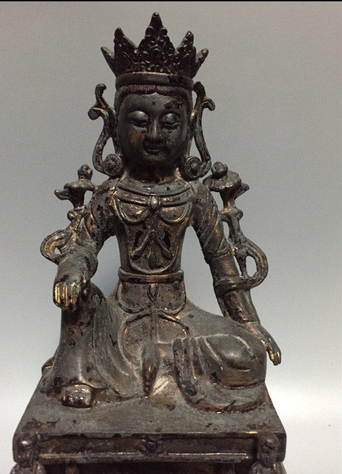 A Nice Gilt Bronze Buddha Statue - 7