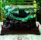 One Nature Jadeite Carving Furnishing Article with