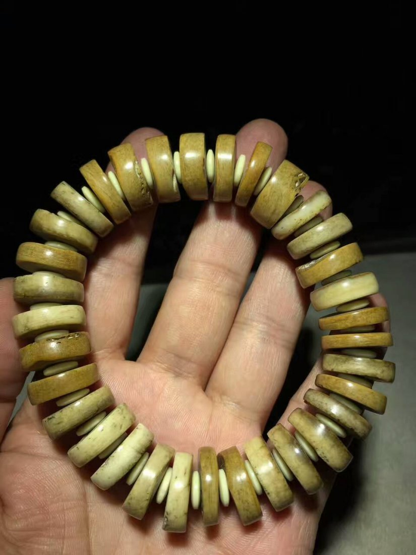 Tibetan More Than  TenThousand Years Bone Bracelet