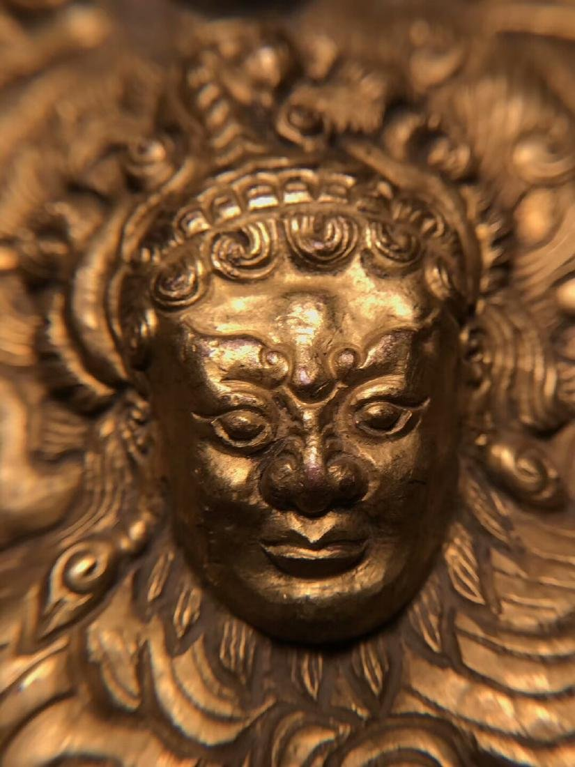 Qing Dynasty Tibetan Gilt Copper Hammer Treasure Sakka - 8