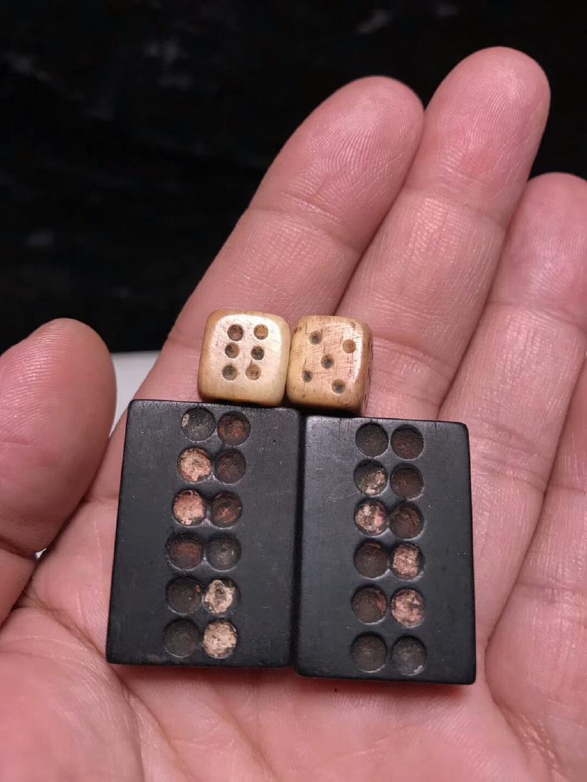 One Set Tanmu Wood Paijiu and Bone Dice - 5