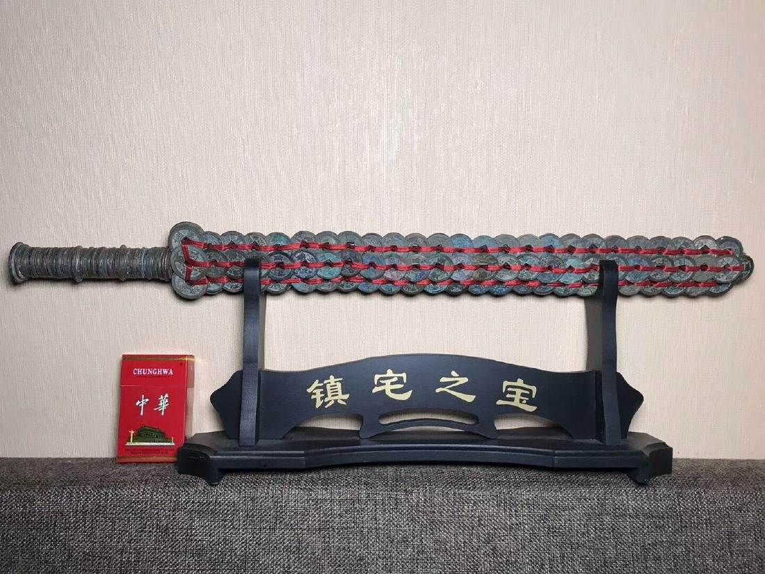 One Song Dynasty Bronze Coins Sword - 2