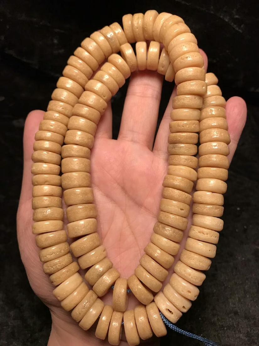 One Old 108 Beads Tibetan Kapala