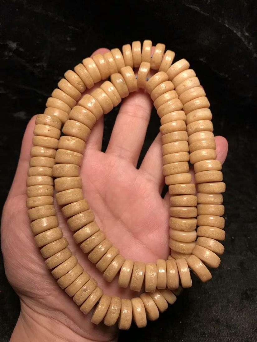One Old 108 Beads Tibetan Kapala - 2