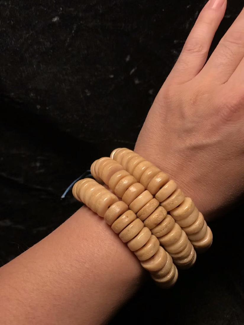 One Old 108 Beads Tibetan Kapala - 5