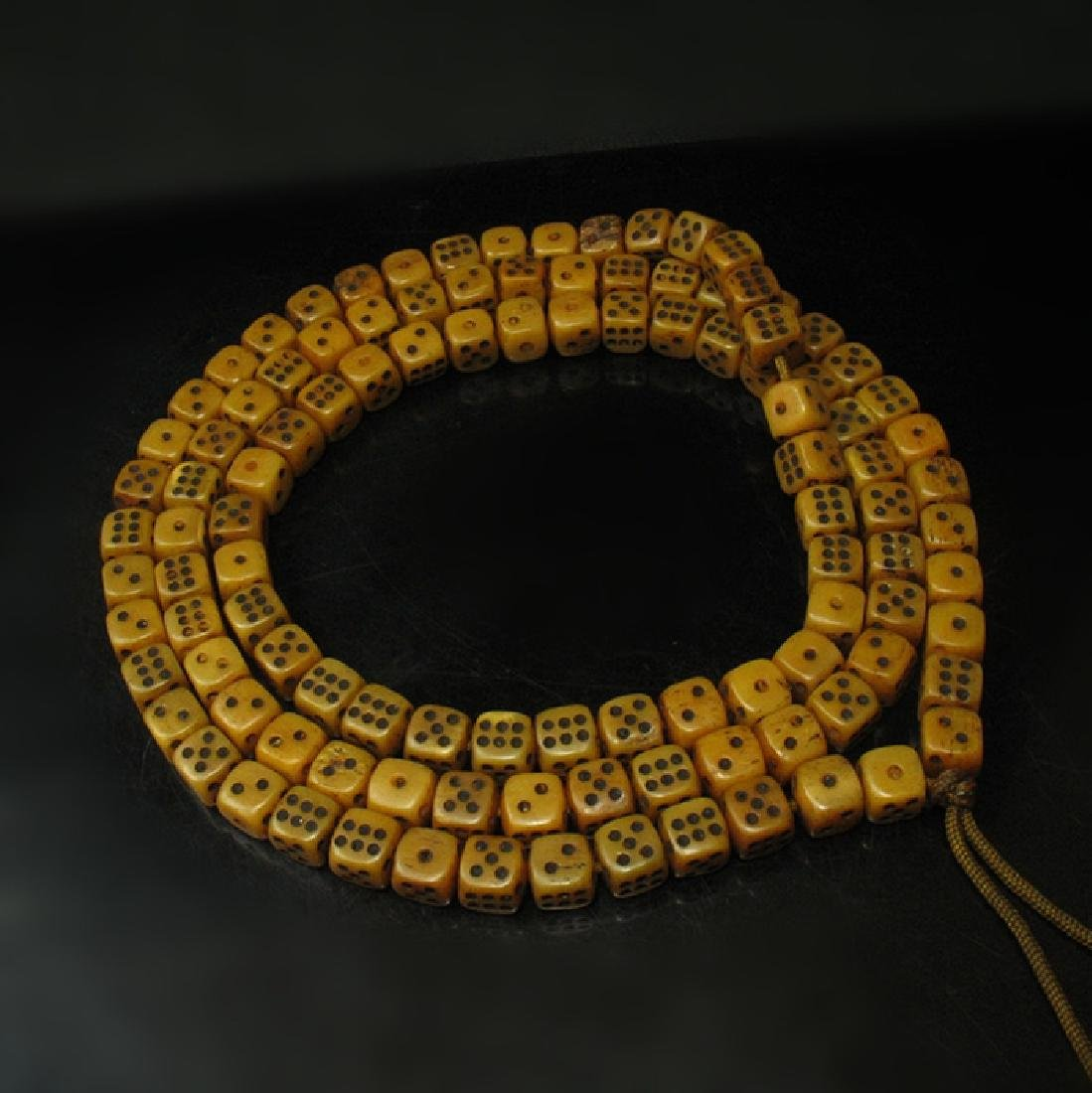 108 Old Ox Dice Beads