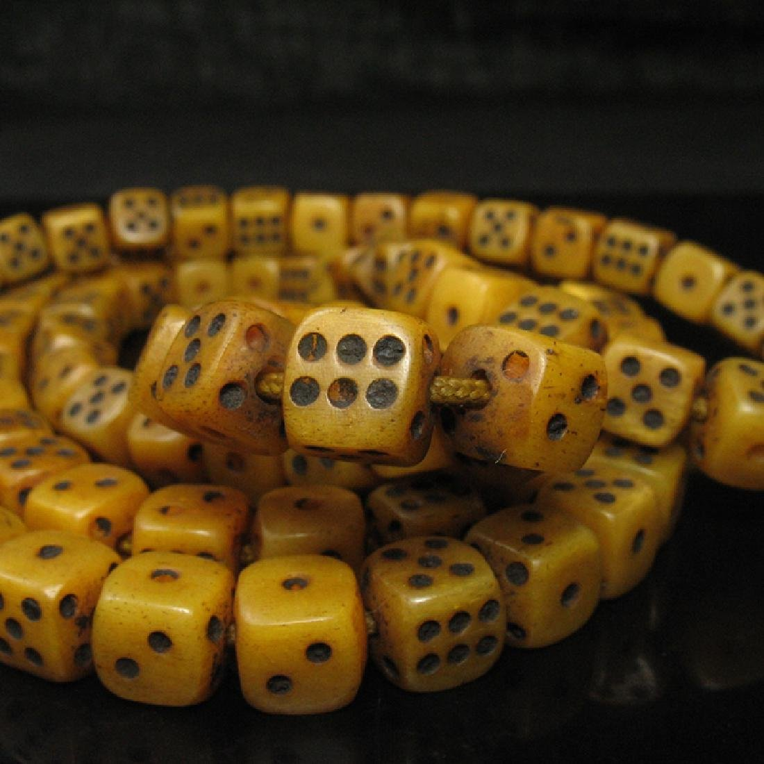 108 Old Ox Dice Beads - 2