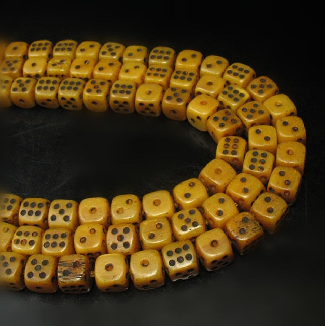 108 Old Ox Dice Beads - 4