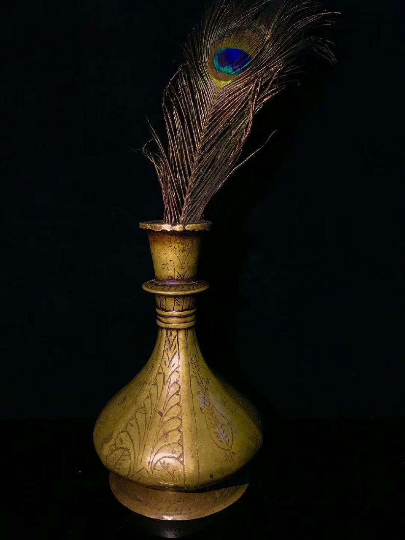 Ming Dynasty Lima Brass Flower Bottle