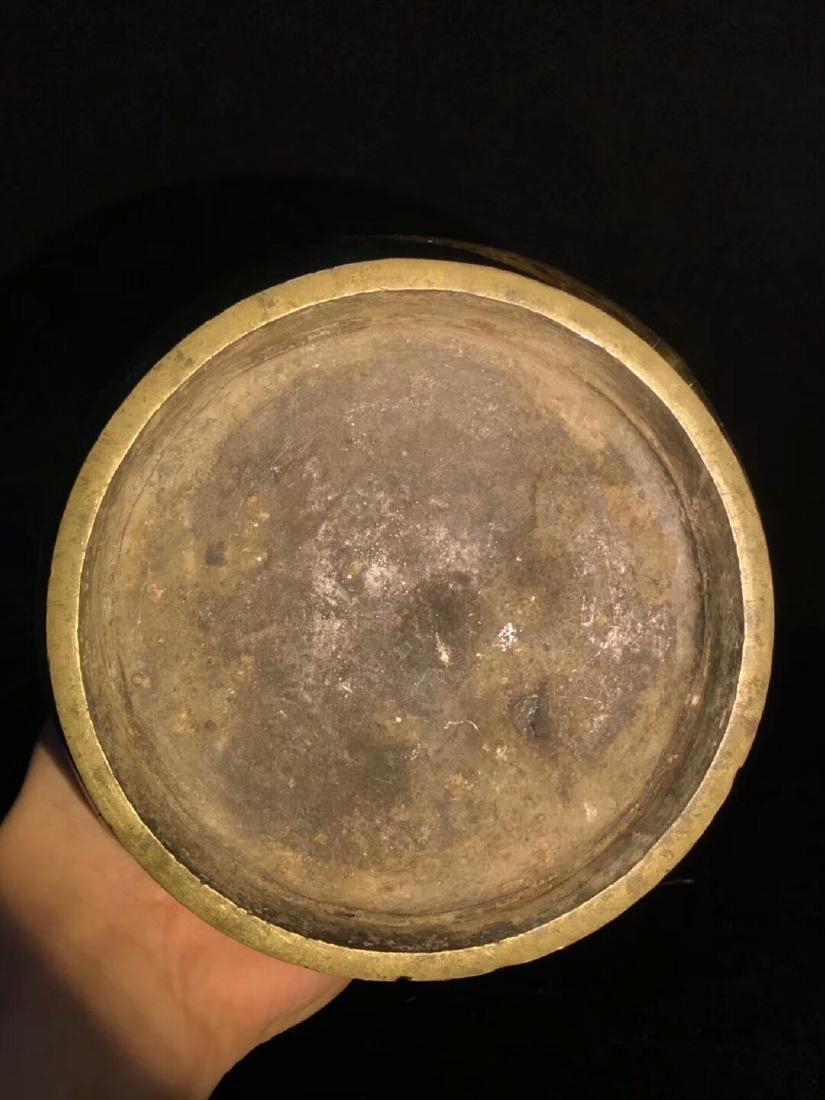 Ming Dynasty Lima Brass Flower Bottle - 7