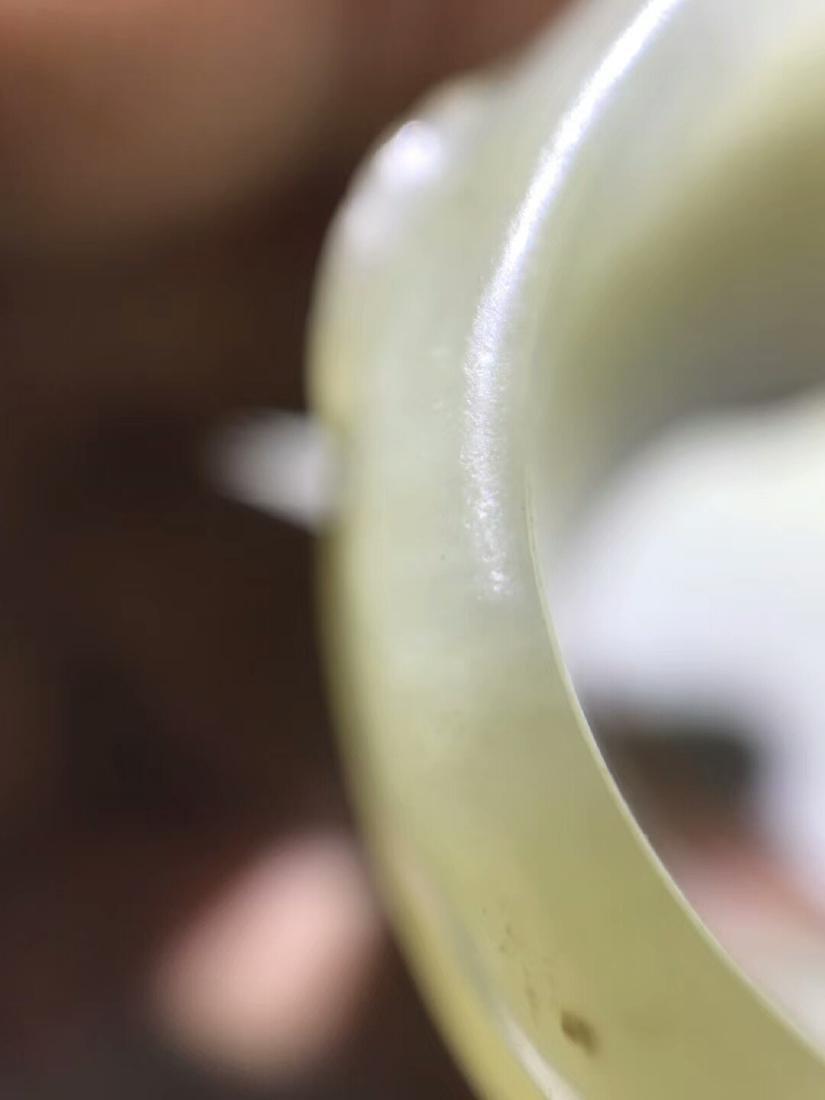 Qing Hetian Jade Thumb Ring - 7