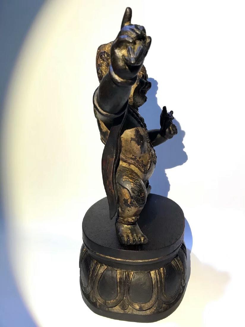Qing Tibetan Zitan Wood King Kong Hand Bodhisattva - 3