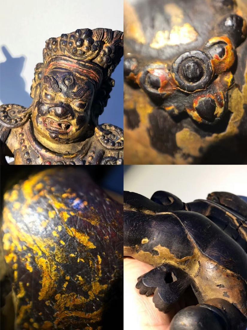 Qing Tibetan Zitan Wood King Kong Hand Bodhisattva - 7