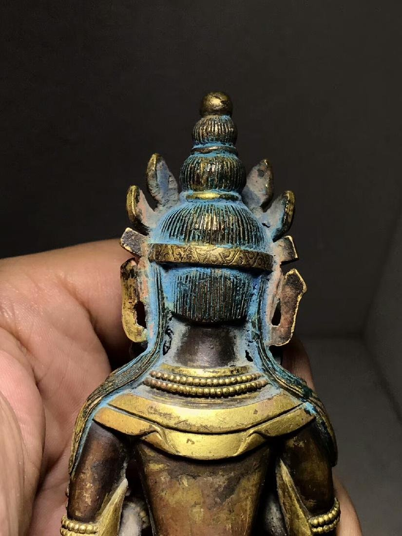 Qing Dynasty Gilt Light Buddha Mother Bodhisattva - 10