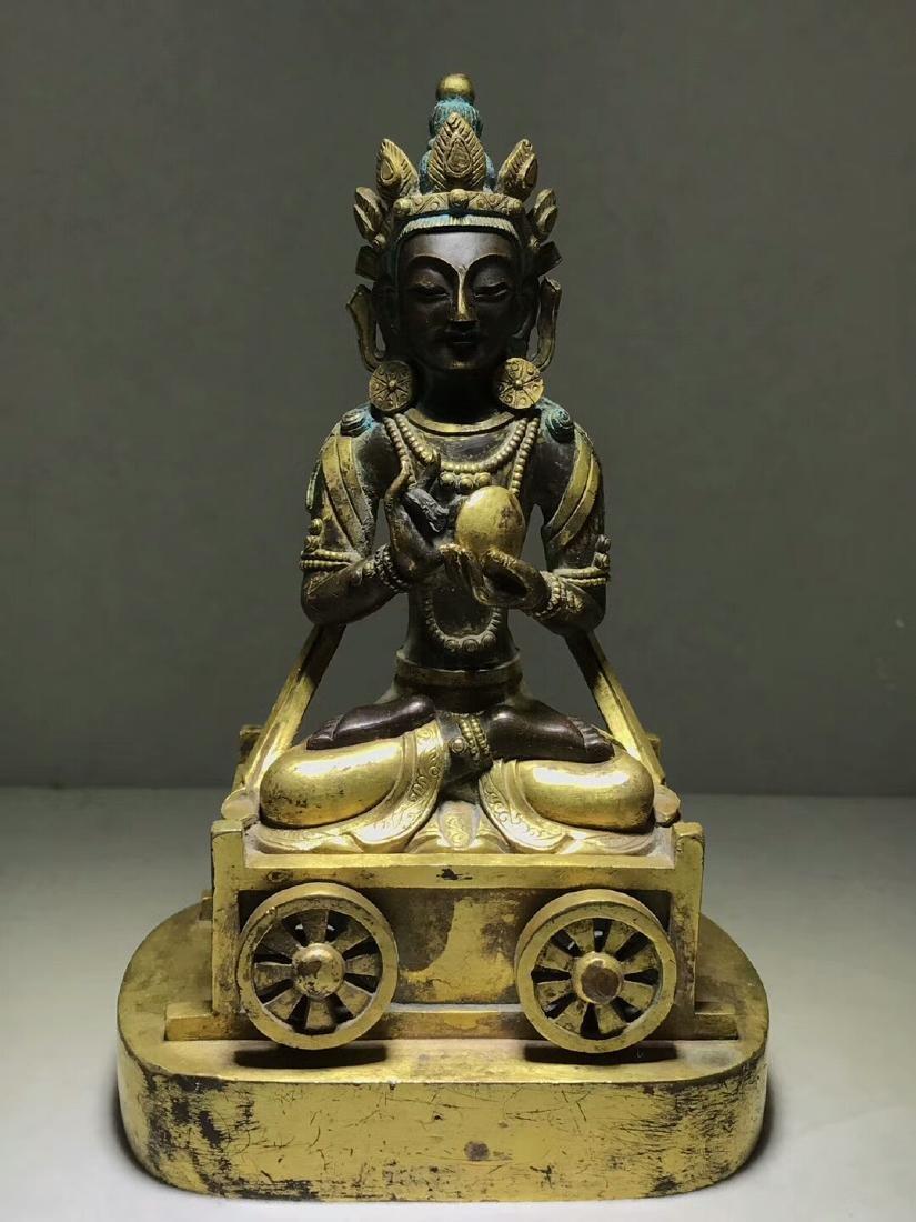 Qing Dynasty Gilt Light Buddha Mother Bodhisattva