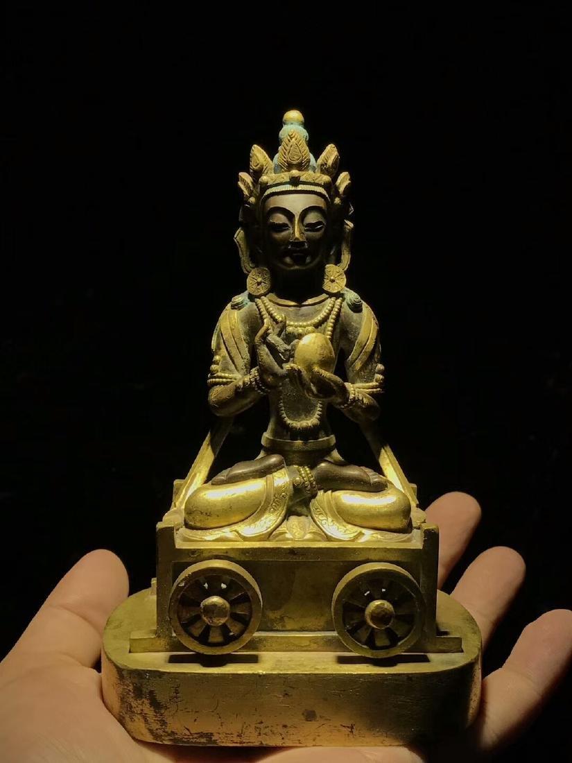 Qing Dynasty Gilt Light Buddha Mother Bodhisattva - 2