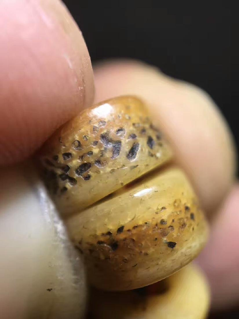Qing Dynasty Jadify Fine Old Ox Bone Beads - 10