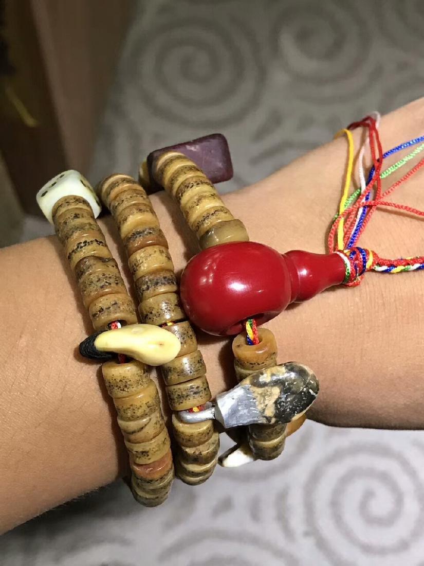 Qing Dynasty Jadify Fine Old Ox Bone Beads - 4