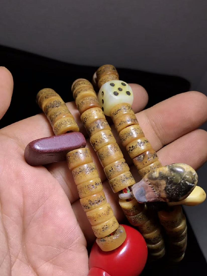 Qing Dynasty Jadify Fine Old Ox Bone Beads - 5