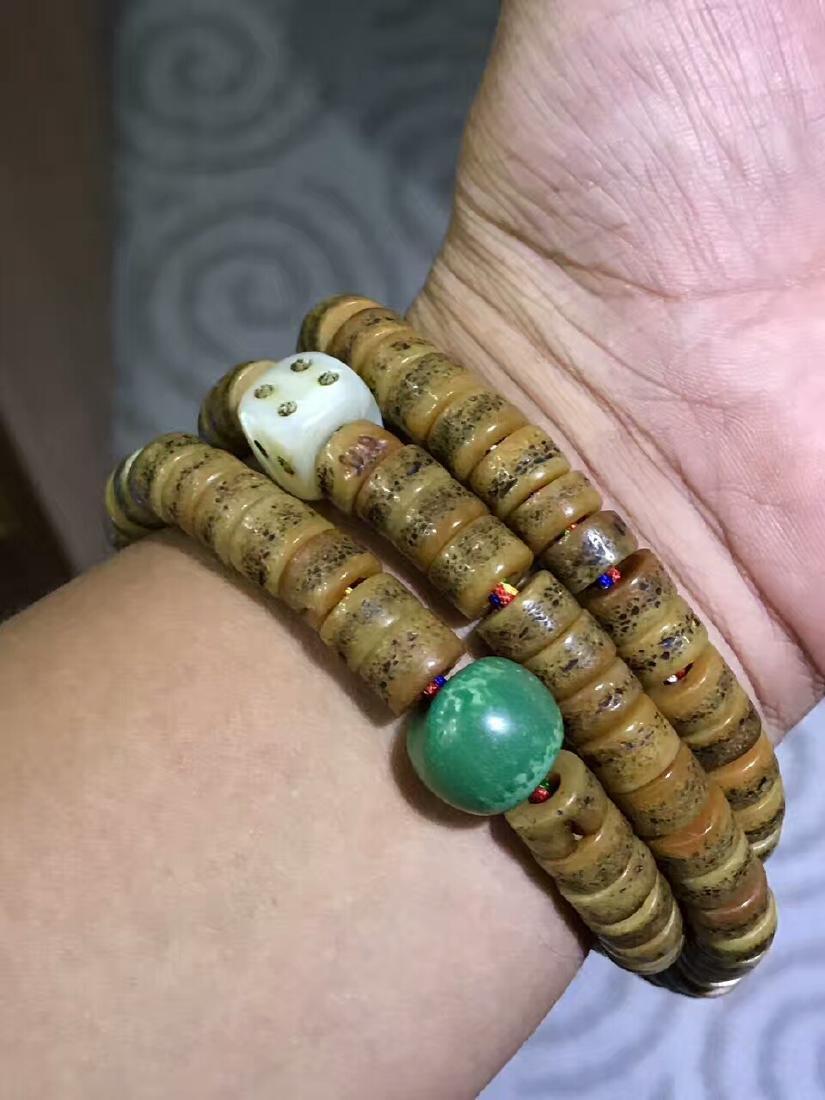 Qing Dynasty Jadify Fine Old Ox Bone Beads - 7