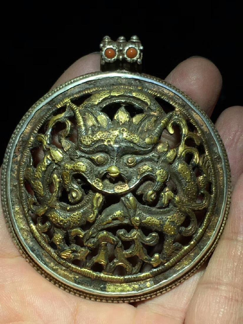 Qing Dynasty Dragon Pendant
