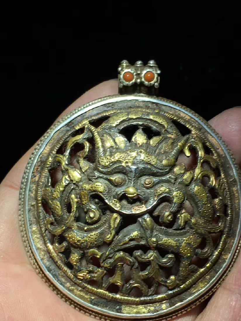 Qing Dynasty Dragon Pendant - 2