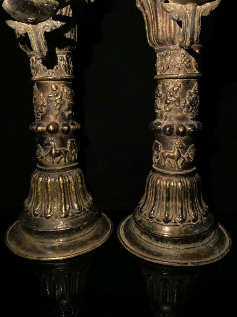 18th Century High Base Buddha Mother Oil Lamps - 4