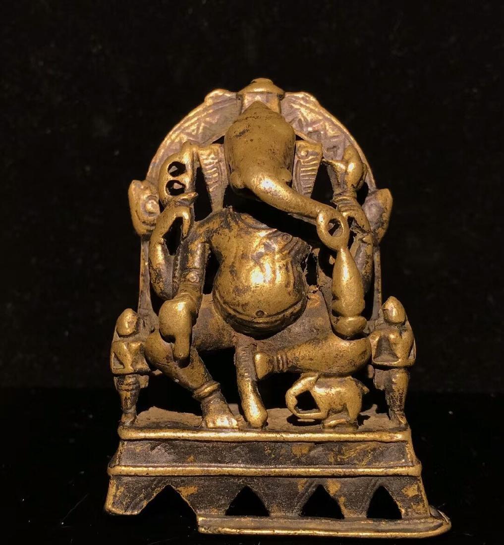 15th Century Tibetan Elephant Nose God of Wealth - 2