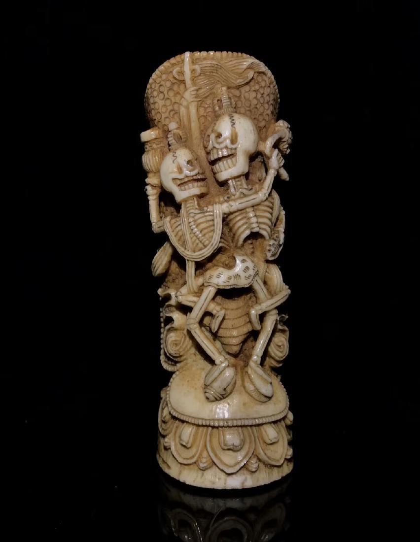 A Nice Tibetan Old Ox Bone Carving