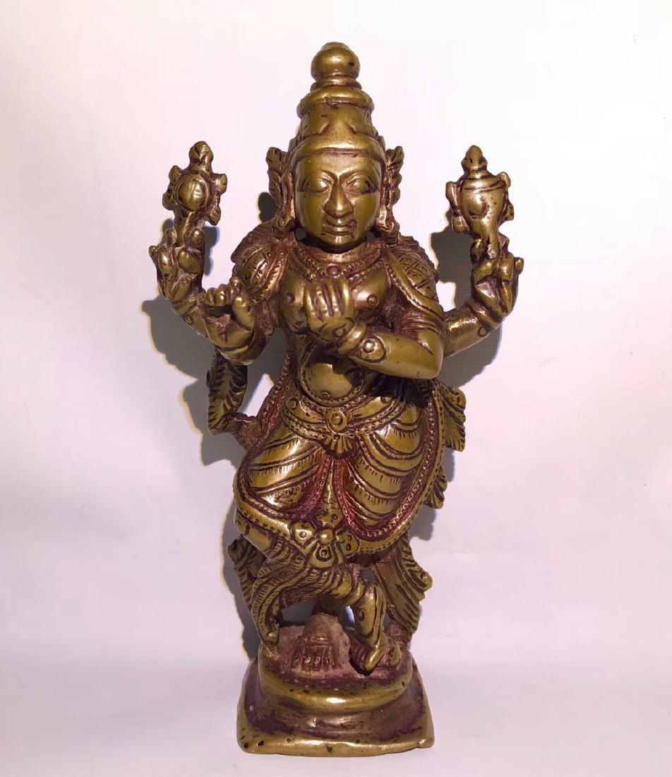 Ming Dynasty,Tibetan Lima copper Buddha Statu