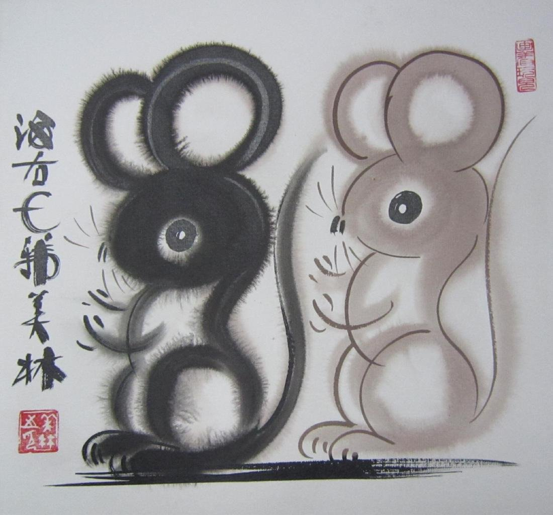 Painting By Famous Artist Hanmeilin( 韩美林)