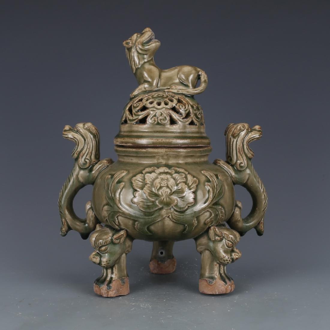 A Big Nice Song Yaozhou Kiln Incense Burner