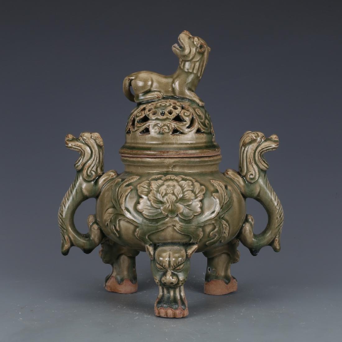A Big Nice Song Yaozhou Kiln Incense Burner - 3
