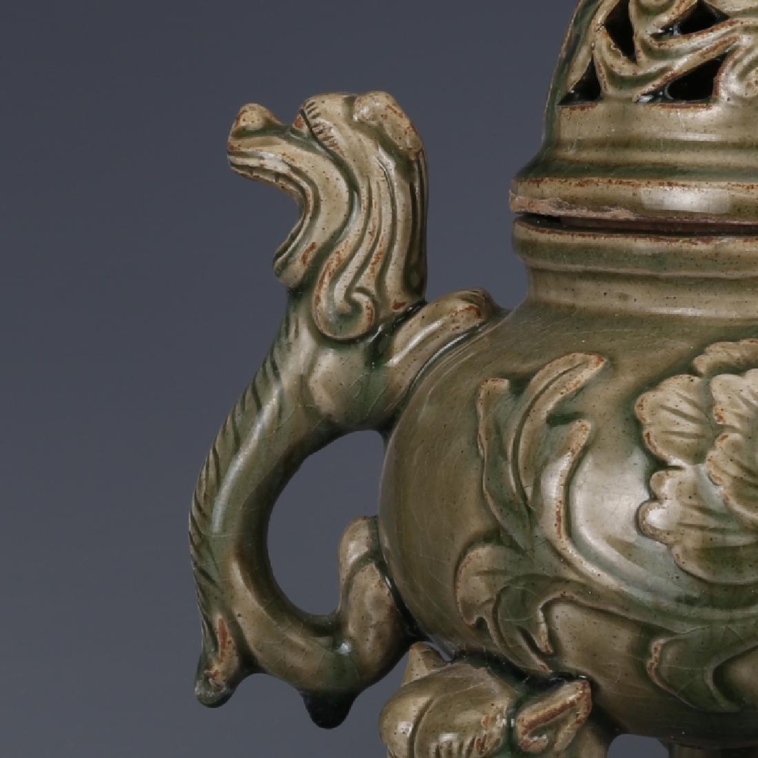 A Big Nice Song Yaozhou Kiln Incense Burner - 5