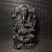 An Nice Antique Tibetan God of Wealth