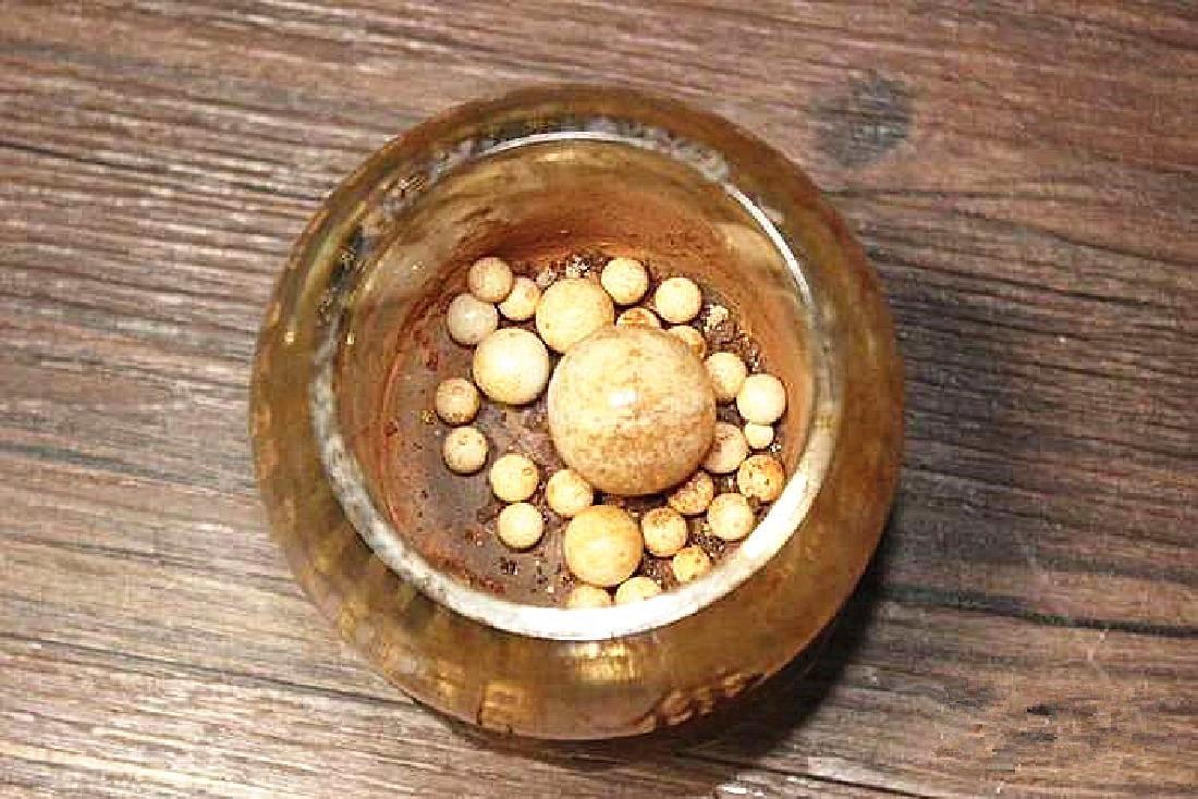 A Nice Crystal lotus sarira jar - 6